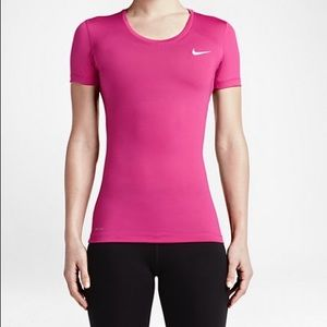 Nike Pro Pink Workout Top, Medium Women's